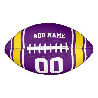 Purple|Yellowのフットボールジャージーは縞で飾ります アメリカンフットボール