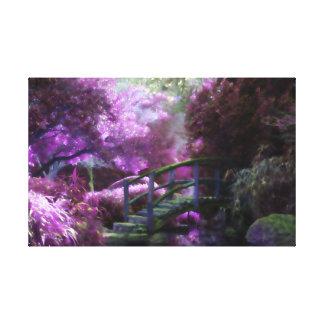 Purple Zen Garden キャンバスプリント