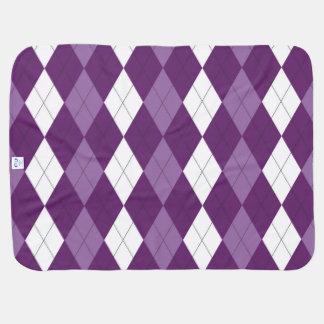PurpleOneのアーガイルのベビーブランケット ベビー ブランケット