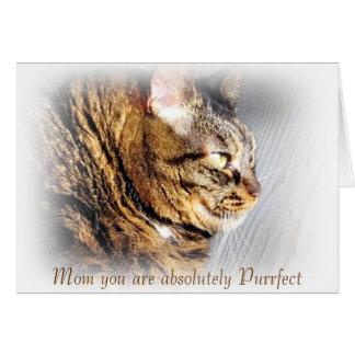 Purrfectの母の日の虎猫猫の挨拶状 カード