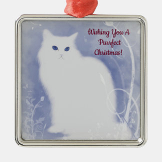 Purrfect Christmas Cat メタルオーナメント
