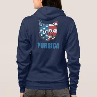 Purrica Murica Mericaの愛国心が強い猫 パーカ