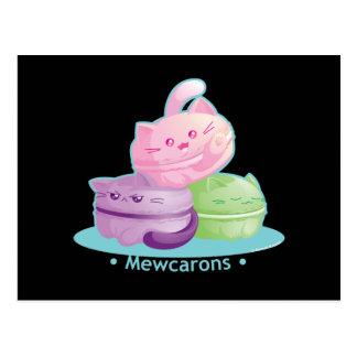 Purrista Pawfee: かわいい子猫猫のマカロン ポストカード