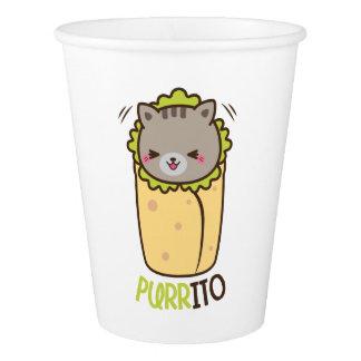 Purritoの子猫のブリトー 紙コップ