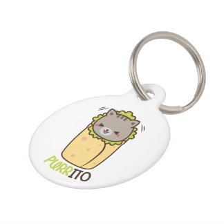 Purritoの子猫猫のブリトー ペット ネームタグ