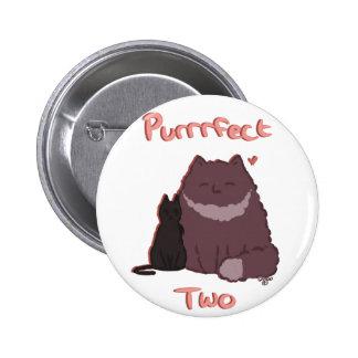 Purrrfect 2 5.7cm 丸型バッジ