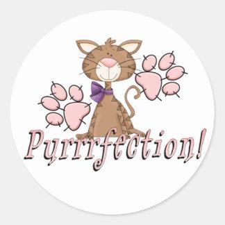 Purrrfectionの子猫 ラウンドシール