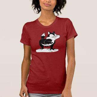 Pussyfootは遠くに引き裂きます Tシャツ