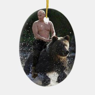 Putinはくまに乗ります! セラミックオーナメント