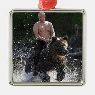 Putinはくまに乗ります! メタルオーナメント