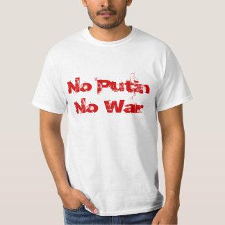 Putin無し戦争無し Tシャツ