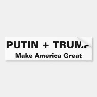 PUTIN + 切札はアメリカを素晴らしくさせます バンパーステッカー