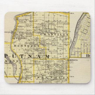 Putnamの地図およびマーシャル郡の東の部分 マウスパッド