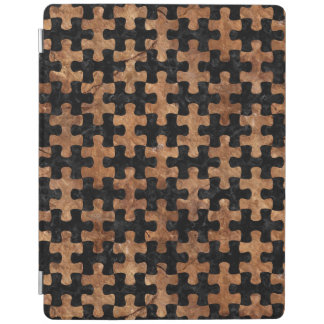 PUZZLE1黒い大理石及びブラウンの石 iPadスマートカバー