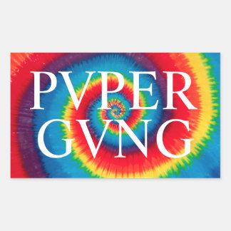 PVPERGVNGの絞り染めのステッカーのパック 長方形シール