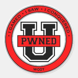 Pwned Uのステッカー ラウンドシール