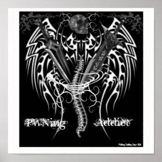 PWNingの常習者のロゴポスター ポスター