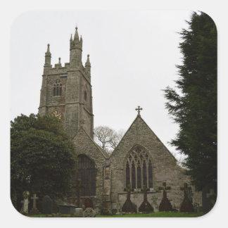 PydarコーンウォールイギリスのSt Mawganの教会 スクエアシール