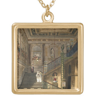 Pyneからのケンジントン宮殿の素晴らしい階段 ゴールドプレートネックレス