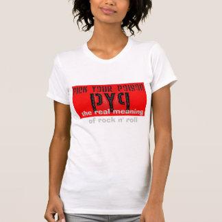 pyp、石のnロールの実質の意味 tシャツ