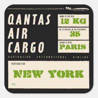 QANTAS AIR CARGO (Black) 正方形シール
