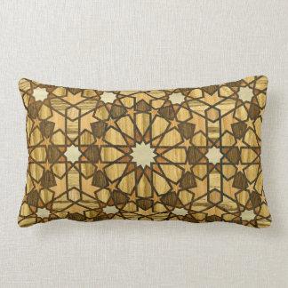 Qarawiyyinのモスク幾何学的なパターン1木 ランバークッション