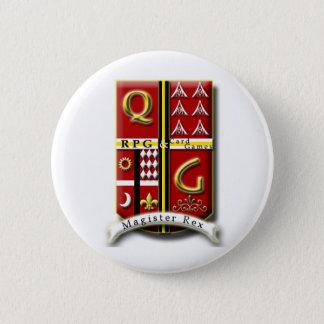 QG - RPG及びCardGames 5.7cm 丸型バッジ