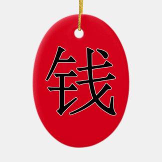 qián -钱(硬貨) セラミックオーナメント