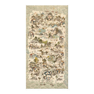 Qiong yu 6月di quan tu (海南Shengの中国1836年) キャンバスプリント