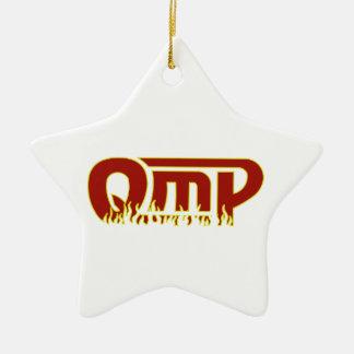 QmPのクリスマスの星 セラミックオーナメント