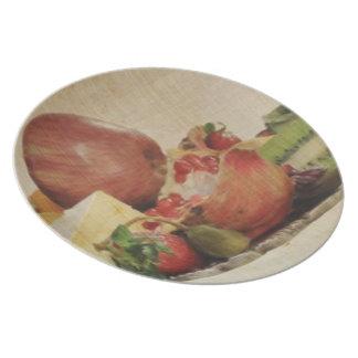 Qnitaのフルーツの表示メラミンプレート プレート