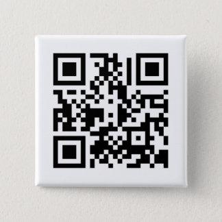 QRの立方体|ボタン 缶バッジ