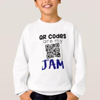 QRコードは私の込み合いです スウェットシャツ