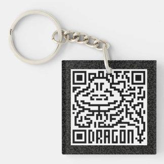 QRコードドラゴン キーホルダー