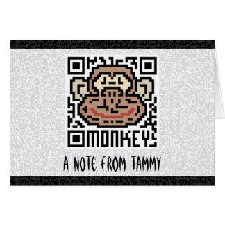 QRコード猿 カード