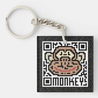 QRコード猿 キーホルダー