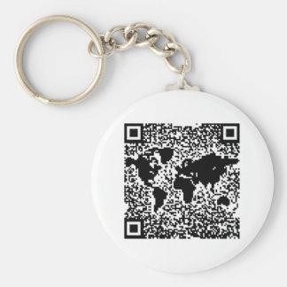 QRコード-世界 キーホルダー