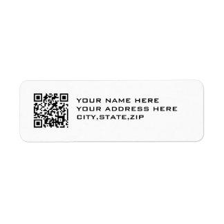 QRコード 返信用宛名ラベル