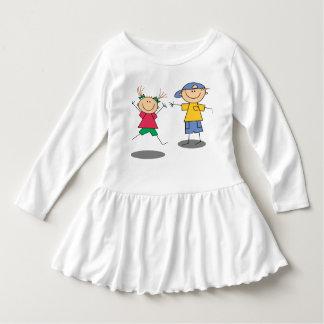 Qrollyロール女の子の衣服 ドレス