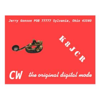 QSLカード- CW元のデジタルモード ポストカード