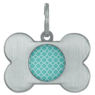 quaのトレフォイルの海緑のデザイン ペットネームタグ