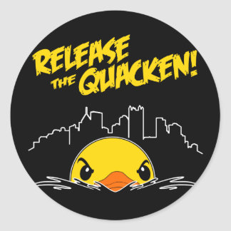 Quackenを解放して下さい ラウンドシール