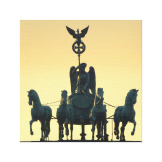 Quadrigaのブランデンブルク門001、ベルリン キャンバスプリント