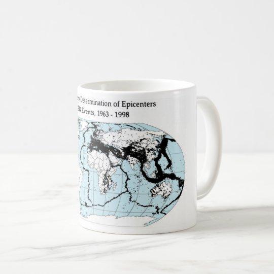 Quake epicenters , 1963-98 コーヒーマグカップ