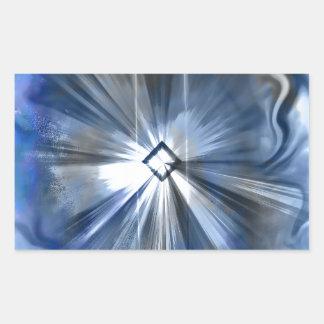 Quantumの想像 長方形シール