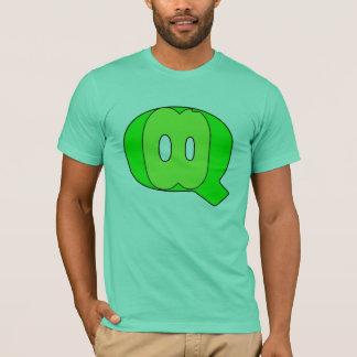 QUARTEZの互い違いの衣裳のロゴ Tシャツ
