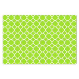 Quatrefoil淡黄緑の緑の黄色いパターン 薄葉紙