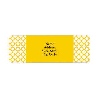 Quatrefoil黄色いパターン ラベル