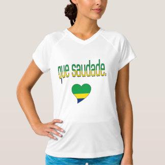 Que Saudade! ブラジルの旗色 Tシャツ