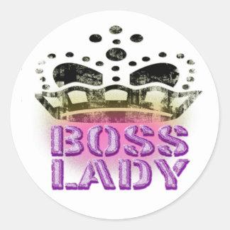 Queen -大きい王冠ボスの女性 ラウンドシール